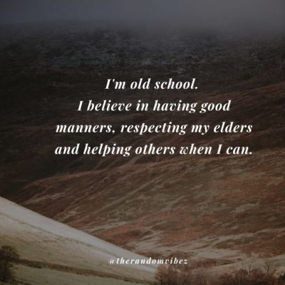 Thoughts On Respect Elders