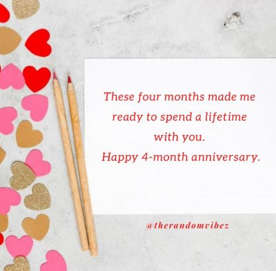 4 Month Anniversary Messages For Him