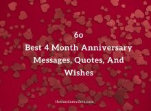 4 Month Anniversary Messages, Quotes, Wishes
