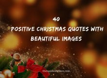 40 Positive Christmas Quotes with Beautiful Images