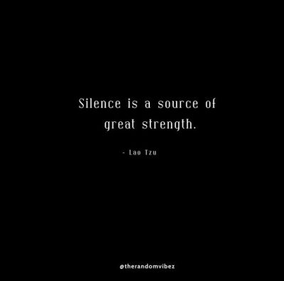 Famous Quotes About Moving In Silence