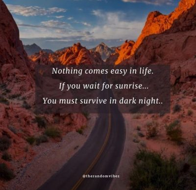 Nothing Comes easy Quotes Images