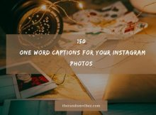Top 150 One Word Captions For Your Instagram Photos