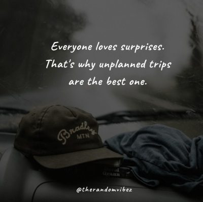 Unplanned Trip Funny Quotes