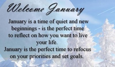 Welcome January Quotations
