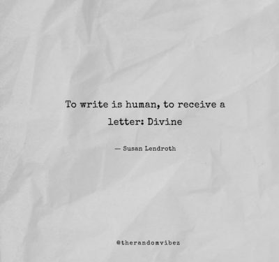 Writing Letters Quotes