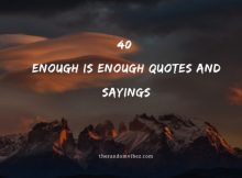 40 Enough is Enough Quotes And Sayings
