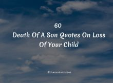60 Death Of A Son Quotes On Loss Of Your Child