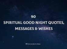 90 Spiritual Good Night Quotes, Messages & Wishes
