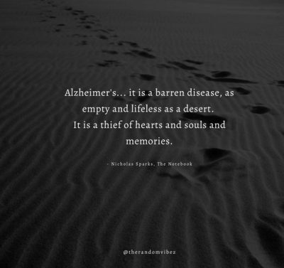 Famous Quotes Alzheimer's Disease
