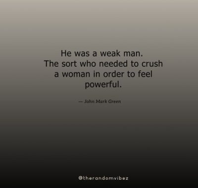 Weak Men Quotes Images