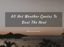 60 Hot Weather Quotes And Sayings