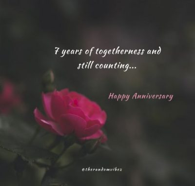 7 Years of Togetherness Quotes