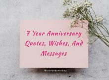 70 Best 7 Year Anniversary Quotes, Wishes, And Messages