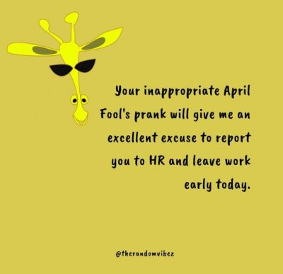 Happy April Fools Day Quotes Work
