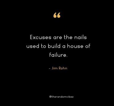Jim Rohn Quotes About Excuses