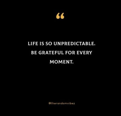 Life Is Unpredictable Quotes Images