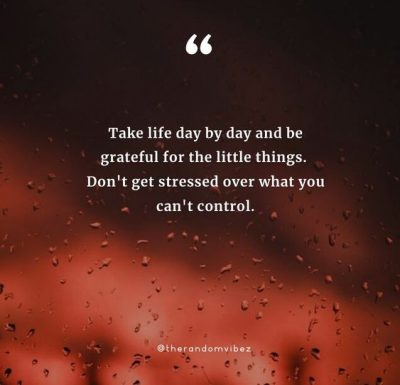 One Day At A Time Philosophy