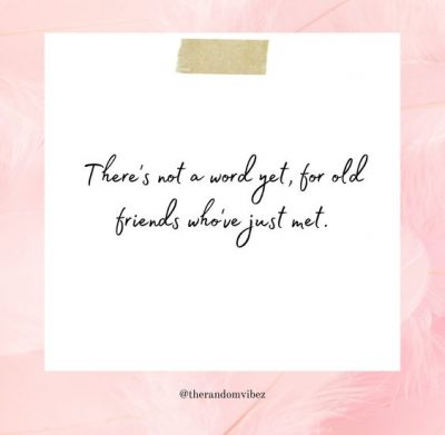 Thoughts On Old Friends