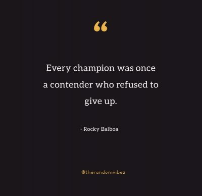 Eye of A Tiger Quote Rocky Balboa
