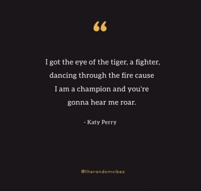 Eye of A Tiger Quotes