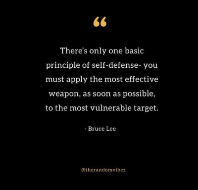 Self Defense Quotes Bruce Lee