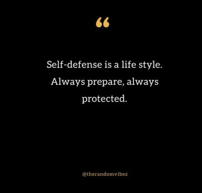 Self Defense Quotes Images