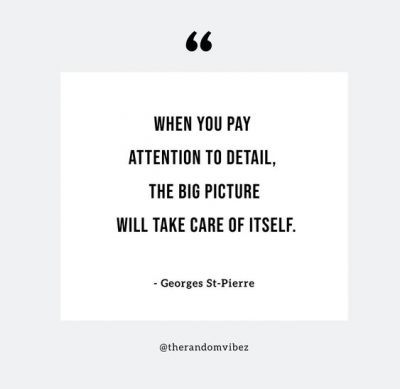 Attention To Detail Quotes Success