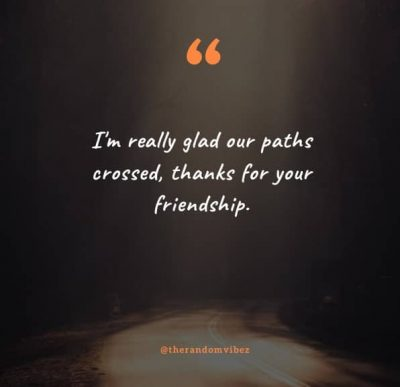 Glad We Crossed Paths Quotes