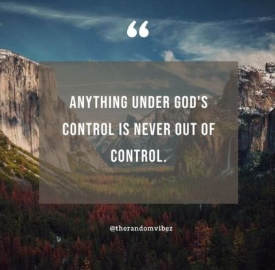God Is In Control Images