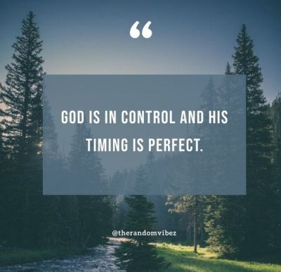 God Is In Control Quotes