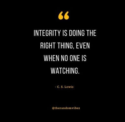 Integrity Do The Right Thing Quotes