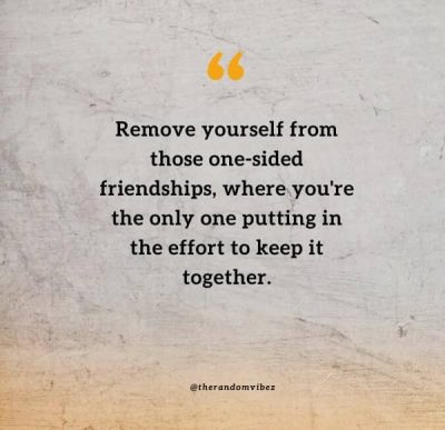 One Sided Friendship Messages