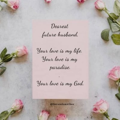 Love Quotes For Future Husband