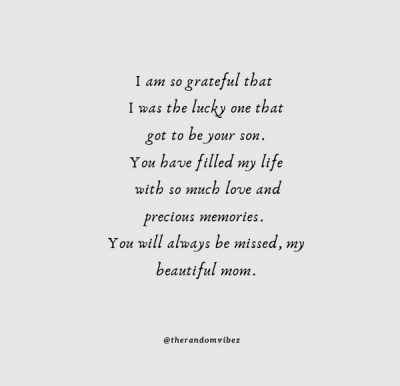 Missing Mom Quotes From Son
