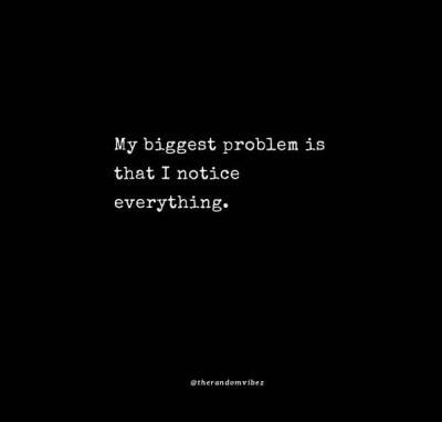 My biggest problem is that I notice everything Quotes