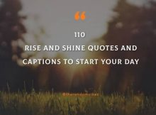 Rise And Shine Quotes And Sayings