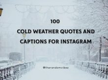 100 Cold Weather Quotes And Captions For Instagram