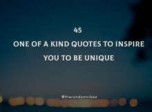 45 One Of A Kind Quotes Images Pictures