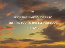 75 Sky's The Limit Quotes To Inspire You To Hustle For Your Dreams