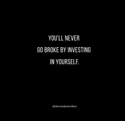 Self Investment Quotes