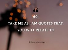 Take Me As I Am Sayings And Quotes