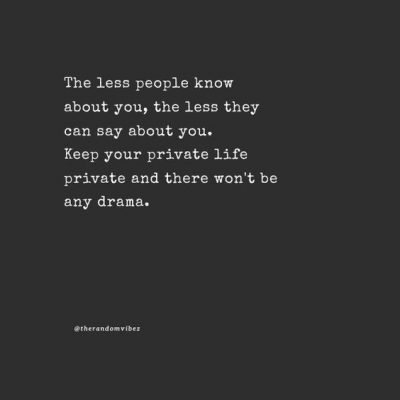 Deep Private Quotes About Life