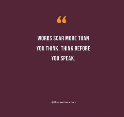 Famous Think Before You Speak Quotes