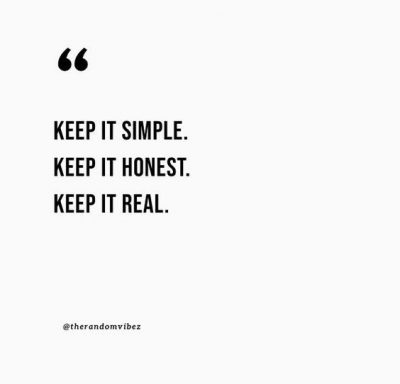 Let's Keep It Simple Quotes