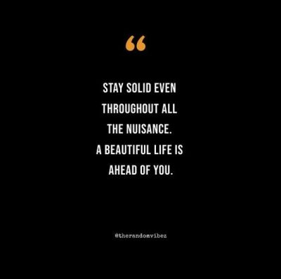 Quotes About Being Solid