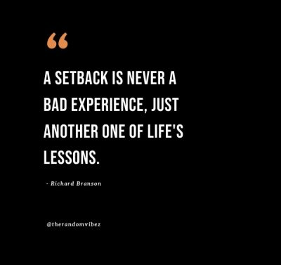 Small Setback Quotes Life