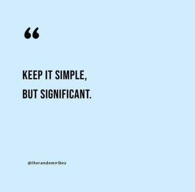 keep life simple quotes