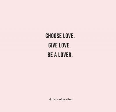love is a choice quote