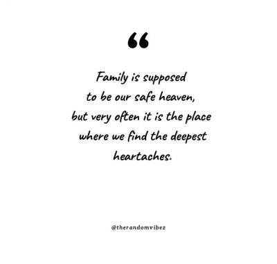 Deep And Sad Family Quotes